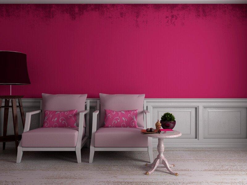 Roze woonkamer inrichten  Wiki Wonen