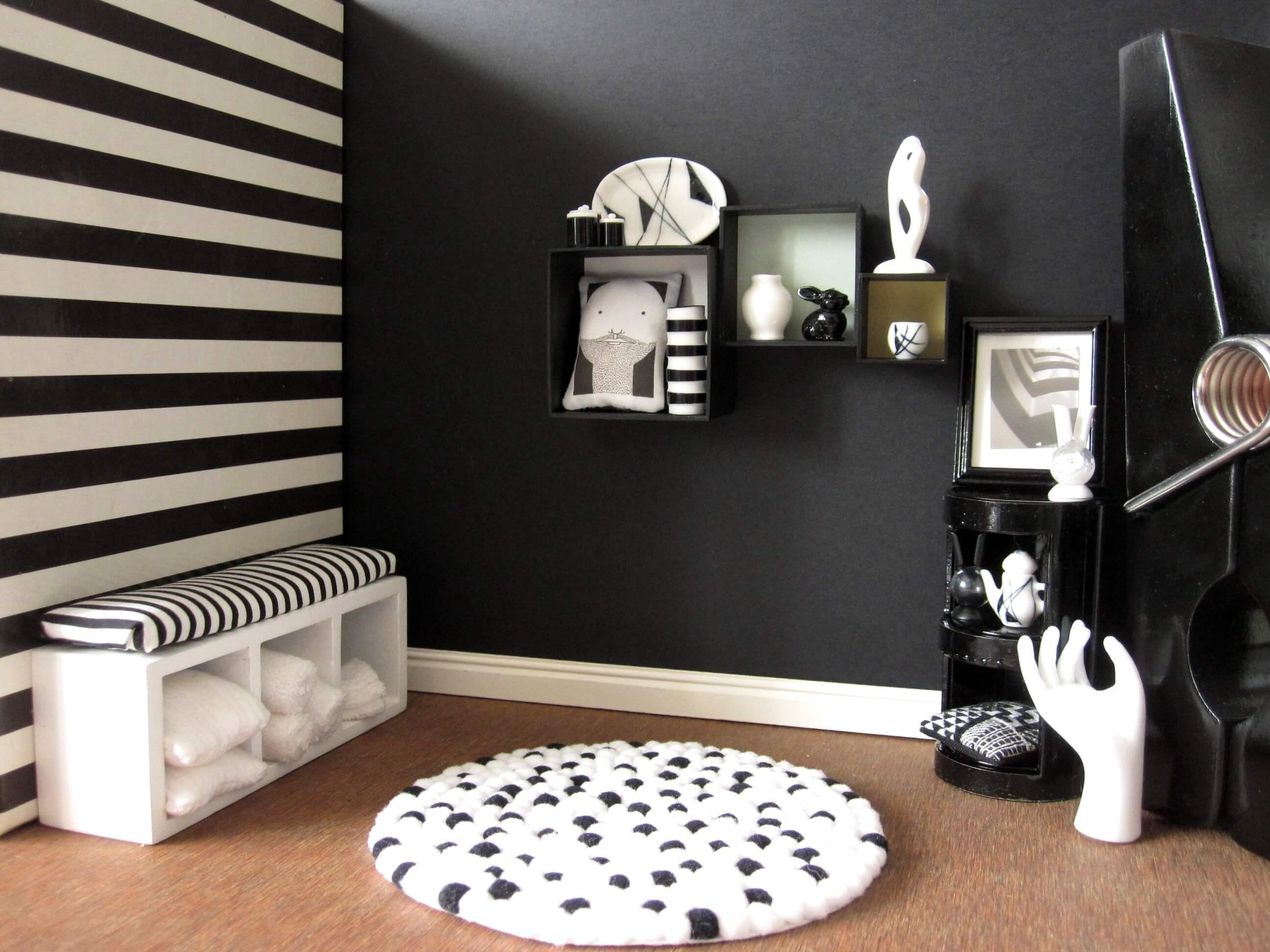 Zwart wit interieur gezellig maken tips inspiratie for Interieur zwart wit
