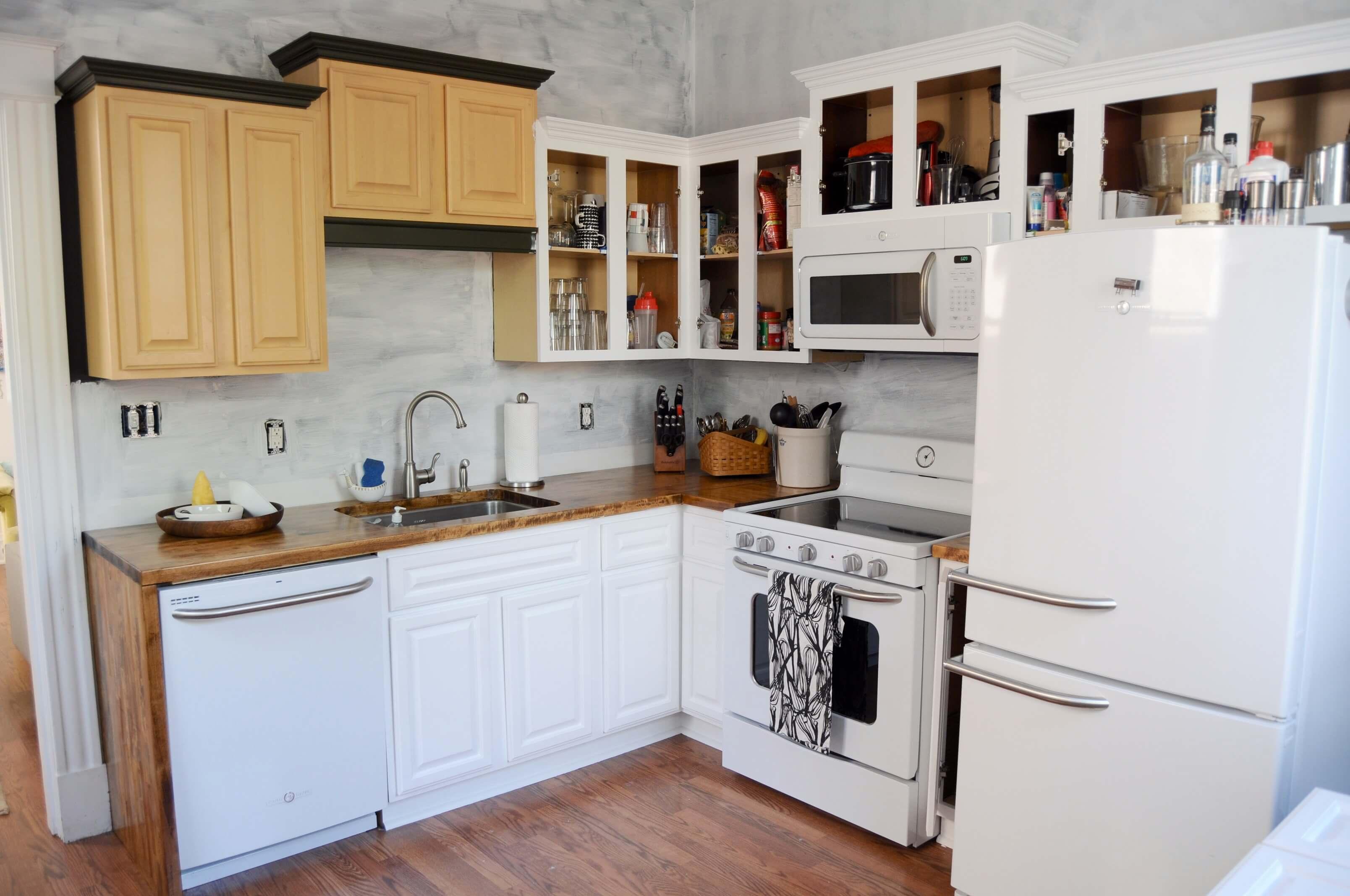 Keukenkasten Verven: Eiken keukenkasten schilderen een espresso ...