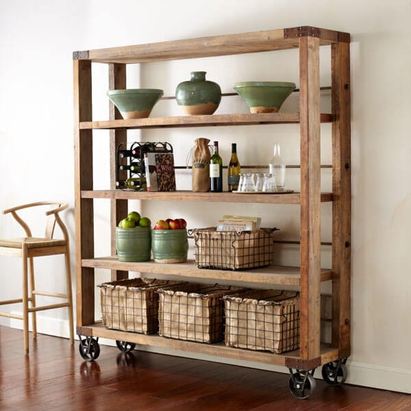 Keuken Gordijnen Maken : Rustic Shelves On Wheels