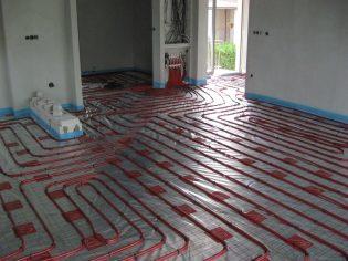 Duurzaam verwarmen vloerverwarming