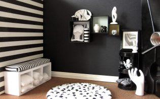 Zwart wit interieur gezellig maken