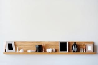 Zwart wit interieur - Hout