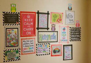 Washi tape muur - Decoratief