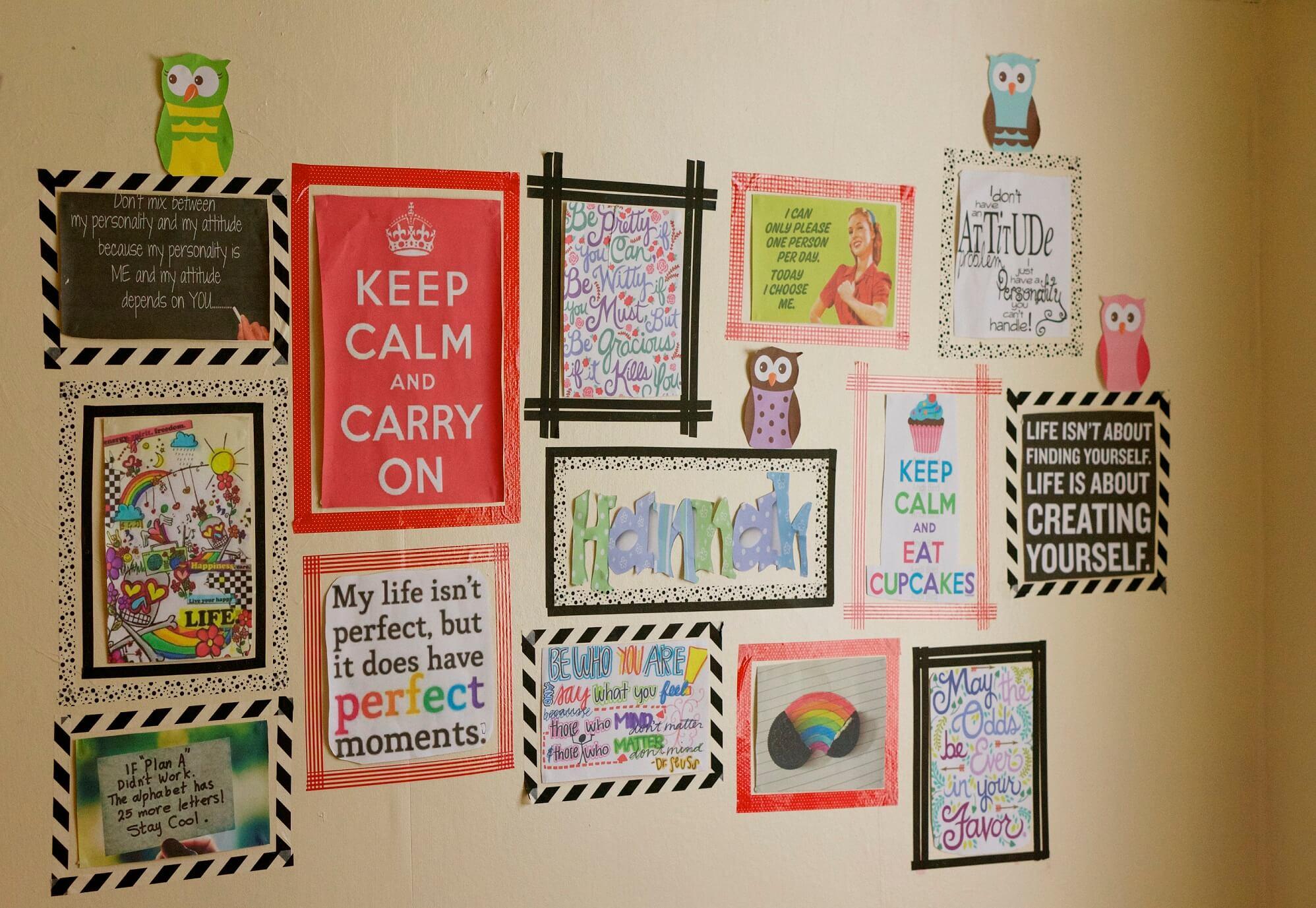 Washi tape idee n voor in huis diy tips inspiratie wiki wonen - Versieren van een muur in ...