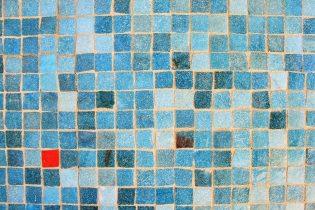 Muurtegels verven - Blauw