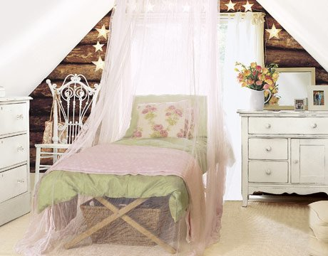 Een mooie pastel slaapkamer