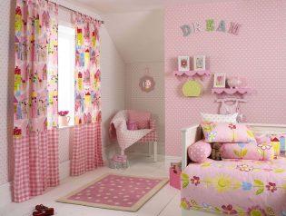 Roze meisjes slaapkamer