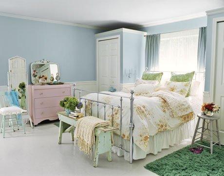 Slaapkamer Meubels Verven : Slaapkamer met pastelkleuren en pasteltinten tips inspiratie