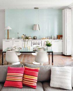 Pastelkleuren woonkamer