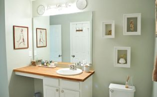 Een gezellige, sfeervolle badkamer