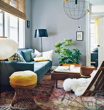 Een bohemian interieur werelds kleurrijk en vintage wiki wonen - Ikea tapijt salon ...