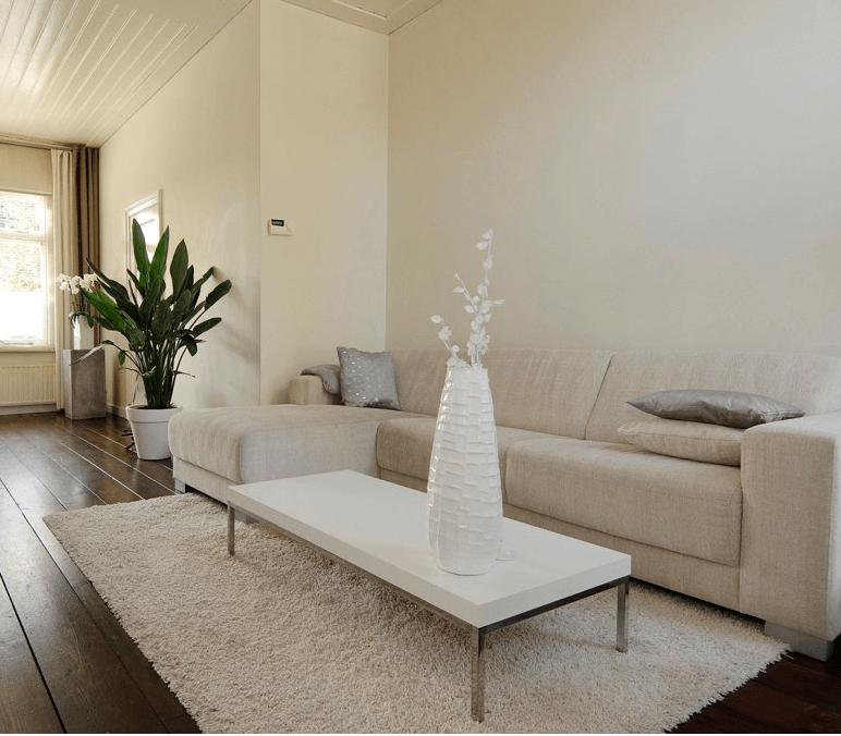 wit interieur houten vloer